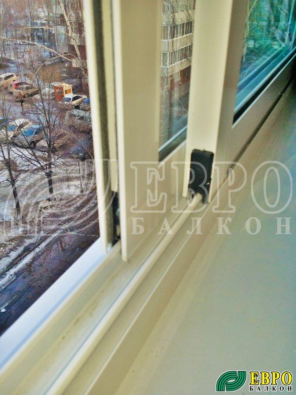 """Раздвижная алюминиевая рама на балкон """" евробалкон. остеклен."""