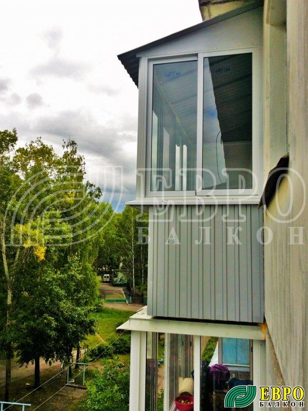 Увеличение балкона алюминиевыми рамами. - первое оконное бюр.
