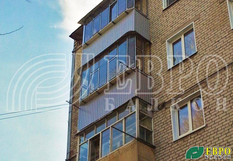 """Фото оцинкованных балконных рам """" евробалкон. остекление, от."""